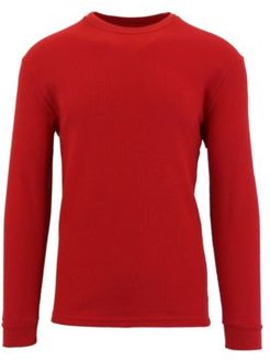 Waffle Knit Thermal Shirts with Contast Side Trim