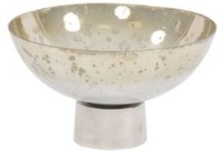 Round Grotto Glass Footed Bowl