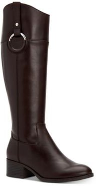 Bexleyy Wide-Calf Riding Leather Boots, Created for Macy's Women's Shoes
