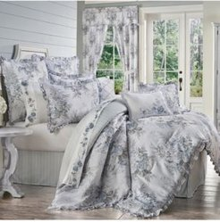 Estelle Blue King 4pc. Comforter Set Bedding