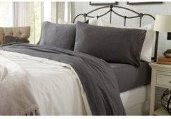 Great Bay Home Heathered Super Soft Jersey Knit Twin Sheet Set Bedding