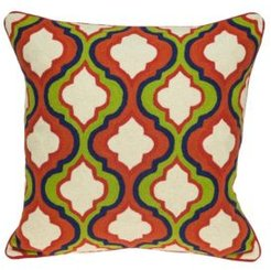 Handmade Manak Transitional Multicolored Pillow Cover with Polyester Insert
