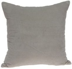 Emma Transitional Grey Solid Pillow Cover with Polyester Insert