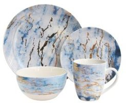 Marble Gold 16Pc Dinnerware Set