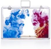Transparent Lucite Abstract Oil Paint Clutch