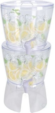 Stackable Juice and Water Beverage Dispensers with Stand, 2.8 Gallon