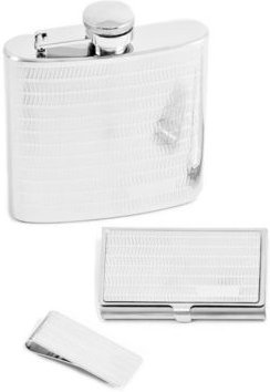 6 Ounce Flask, Business Card Case and Money Clip Gift Set