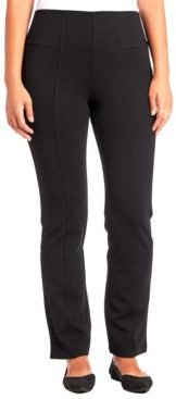 Ponte-Knit Bootcut Pull-On Pants