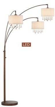 """Lumiere Iv 80"""" Led Crystal Arched Floor Lamp with Dimmer"""