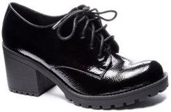 Lisette Black Heel Oxford Loafers Women's Shoes