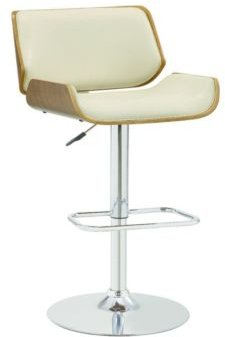 Lodi Adjustable Upholstery Bar Stool with Wood Back
