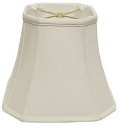 Cloth & Wire Slant Cut Corner Square Bell Softback Lampshade with Washer Fitter