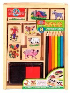 Down On The Farm Wooden Stamp Set