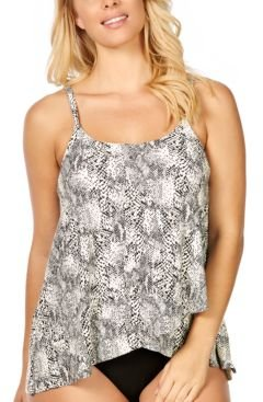 Cape Town Snake Printed Draped Underwire Tankini, Created for Macy's Women's Swimsuit