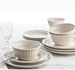 Classic Brush 12-Pc. Dinnerware Set, Service for 4, Created for Macy's
