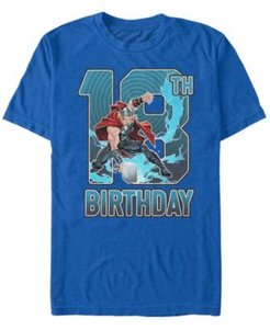 Fifth Sun Men's Marvel Thor 18th Birthday Short Sleeve T-Shirt