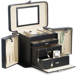 Lizard 4 Level Jewelry Box with Travel Pouch