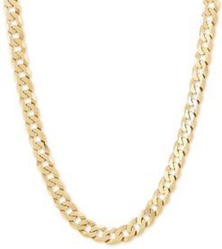 """Curb Link 22"""" Chain Necklace in 18k Gold-Plated Sterling Silver"""