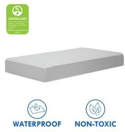 Deluxe Coil Dual-Sided Standard Size Crib and Toddler Mattress, Non-Toxic and Dual Sided Firmness