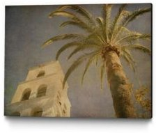 "24"" x 18"" Vintage Like Palm Ii Museum Mounted Canvas Print"