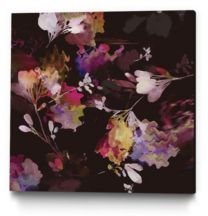 "30"" x 30"" Glitchy Floral Iii Museum Mounted Canvas Print"
