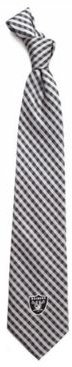 Oakland Raiders Poly Gingham Tie