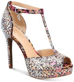 Chace T-Strap Platform Heels, Created for Macy's Women's Shoes