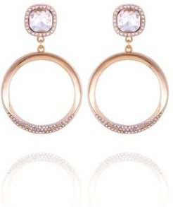 Pave Fire Essential Front Facing Hoop Earring