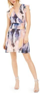 Printed Ruched-Waist Mini Dress, Created for Macy's