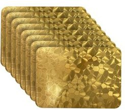 Reversible Metallic Shimmering Water Cube Dining Table Indoor Outdoor Placemats - Set of 8