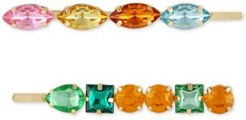 2-Pc. Gold-Tone Multicolor Crystal Bobby Pin Set