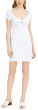 Off-The-Shoulder Tie-Front Mini Dress, Created for Macy's