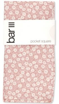 Harpeth Floral-Print Cotton Pocket Square, Created for Macy's