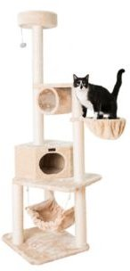 Pet Cat Tower, Tower Entertainment Furniture with Lounge Basket