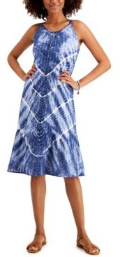 Tie-Dyed Midi Dress, In Regular and Petite, Created for Macy's
