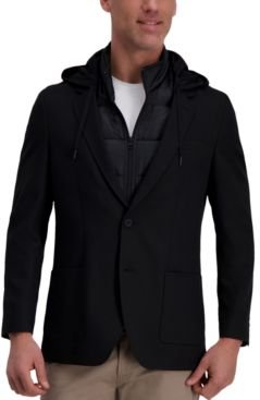 The Active Series Slim-Fit Stretch Commuter Blazer with Zip-Out Puffer Jacket