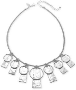 """Circle & Hammered Rectangle 35"""" Pendant Necklace, Created for Macy's"""