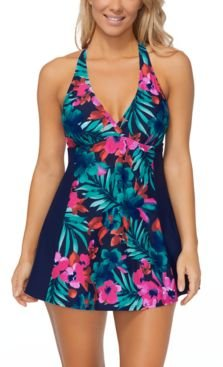 Here Comes the Sun Printed H-Back Swimdress, Created for Macy's Women's Swimsuit