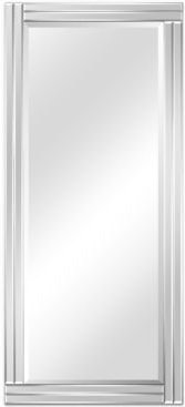 """Moderno Stepped Beveled Rectangle Wall Mirror, 54"""" x 24"""" x 1.18"""""""