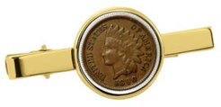 1800's Indian Penny Coin Tie Clip