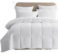 Lightweight White Goose Down & Feather Comforter, King Size