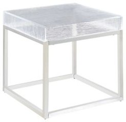 Valerie Lamp Table with Acrylic Top