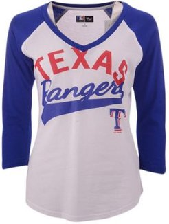 G-iii Sports Women's Texas Rangers Its A Game Raglan T-Shirt