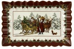 Closeout! Villeroy & Boch Toys Fantasy Rectangulare Cake Plate, Santa with sleigh