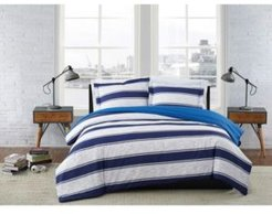 Watkins Stripe 2 Piece Comforter Set, Twin Xl Bedding