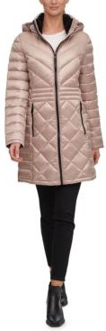 Petite Hooded Packable Down Puffer Coat, Created for Macys