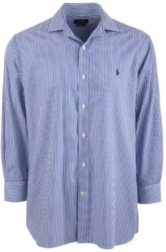 Classic/Regular-Fit Wrinkle-Resistant Stripe Dress Shirt