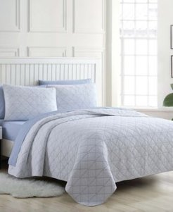 Kelsey Solid Twin Quilt Set Bedding