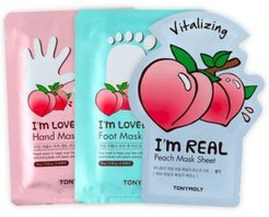 3-Pc. I'm Peach Head To Toe Body Mask Set