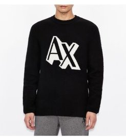 Large Ax Shadow Logo Knit Pullover Sweater